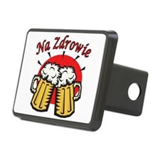 Na Zdrowie Toast With Beer Mugs Hitch Cover