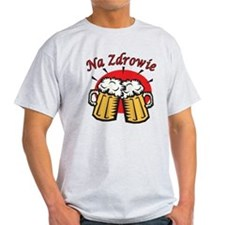 Na Zdrowie Toast With Beer Mugs T-Shirt
