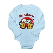 Na Zdrowie Toast With Beer Mugs Long Sleeve Infant