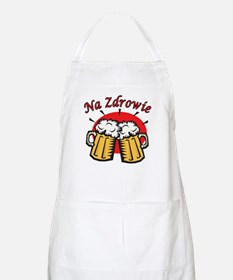 Na Zdrowie Toast With Beer Mugs Apron