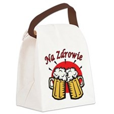 Na Zdrowie Toast With Beer Mugs Canvas Lunch Bag