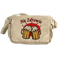 Na Zdrowie Toast With Beer Mugs Messenger Bag