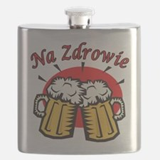Na Zdrowie Toast With Beer Mugs Flask