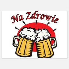 Na Zdrowie Toast With Beer Mugs Invitations