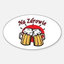 Na Zdrowie Toast With Beer Mugs Decal