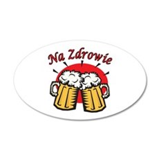 Na Zdrowie Toast With Beer Mugs Wall Decal