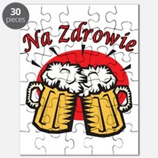 Na Zdrowie Toast With Beer Mugs Puzzle