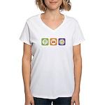 Eat Sleep NYSAFLT Women's V-Neck T-Shirt