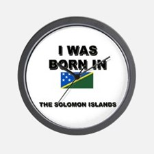 I Was Born In The Solomon Islands Wall Clock