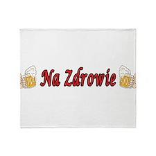 Na Zdrowie Toast Beer Mugs Throw Blanket