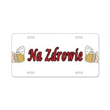 Na Zdrowie Toast Beer Mugs Aluminum License Plate