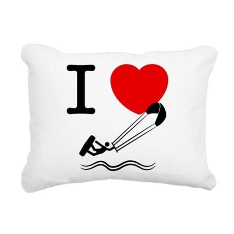 Kitesurfing Rectangular Canvas Pillow