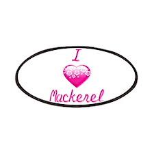I Love/Heart Mackerel Patches