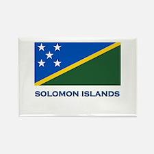 The Solomon Islands Flag Gear Rectangle Magnet