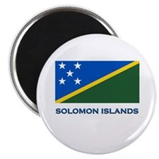 The Solomon Islands Flag Gear Magnet