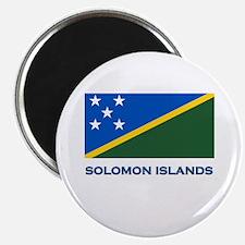 The Solomon Islands Flag Gear Magnet