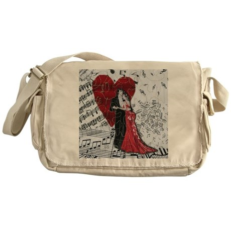 Romantic Dancers Messenger Bag