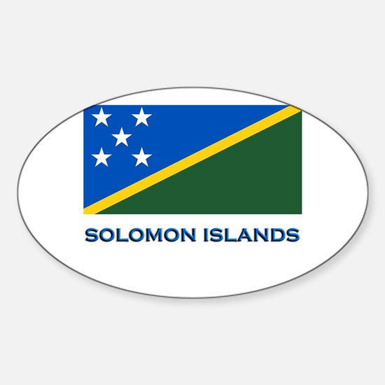 The Solomon Islands Flag Gear Oval Decal