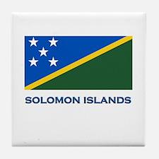 The Solomon Islands Flag Gear Tile Coaster