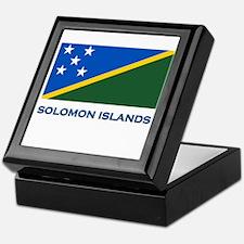 The Solomon Islands Flag Gear Keepsake Box