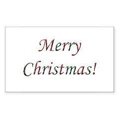 Merry Christmas! Rectangle Decal