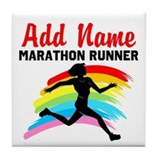 MARATHON RUNNER Tile Coaster