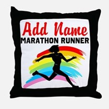 MARATHON RUNNER Throw Pillow