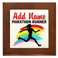 MARATHON RUNNER Framed Tile