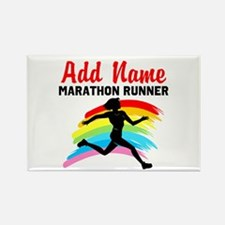 MARATHON RUNNER Rectangle Magnet