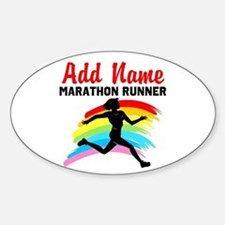 MARATHON RUNNER Sticker (Oval)