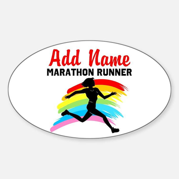MARATHON RUNNER Sticker (Oval)