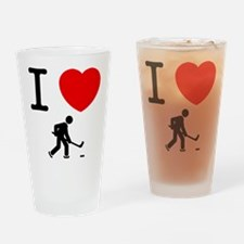 Ice Hockey Drinking Glass