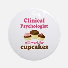 Clinical Psychologist Cupcake Ornament (Round)