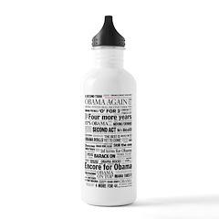 Obama 2012 Victory Headline Water Bottle