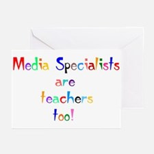 Media Specialist Kids Greeting Cards (Pk of 10