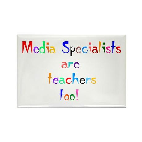 Media Specialist Kids Rectangle Magnet