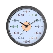 Math Clock (AM-PM) Wall Clock