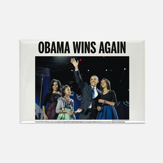 Obama Wins Again - 2012 Election Obama Magnet