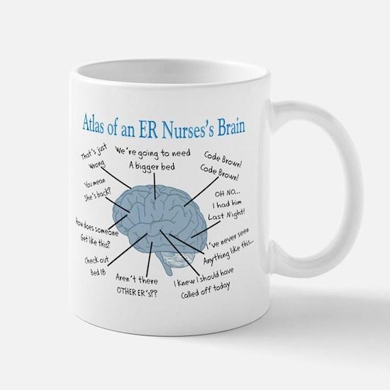 Atlas of an ER nurses brain Mugs