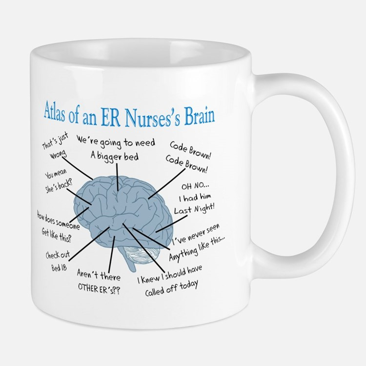Atlas of an ER nurses brain Mugs