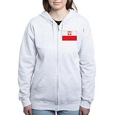 Polish Falcon Flag Zip Hoodie