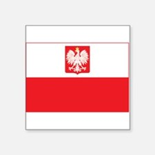 "Polish Falcon Flag Square Sticker 3"" x 3"""