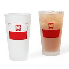 Polish Falcon Flag Drinking Glass