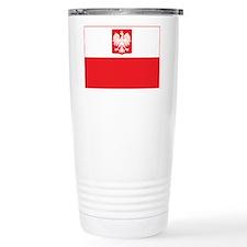 Polish Falcon Flag Travel Mug