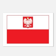 Polish Falcon Flag Postcards (Package of 8)