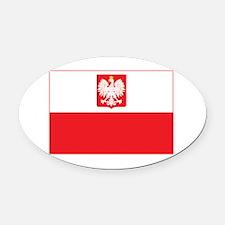 Polish Falcon Flag Oval Car Magnet