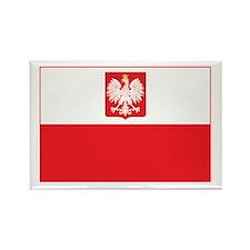 Polish Falcon Flag Rectangle Magnet