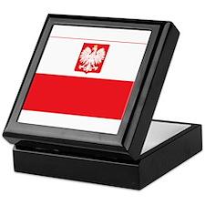 Polish Falcon Flag Keepsake Box