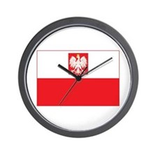 Polish Falcon Flag Wall Clock