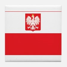 Polish Falcon Flag Tile Coaster
